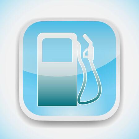 gas station pump vector icon Illustration