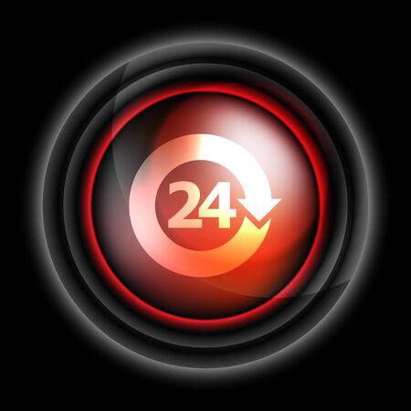 open 24 hours vector icon Vector
