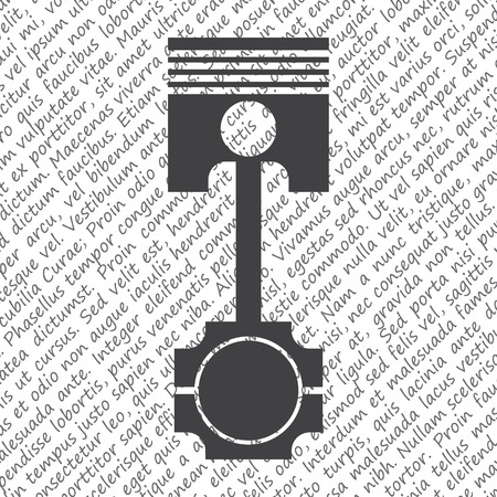 engine pistons: piston vector icon