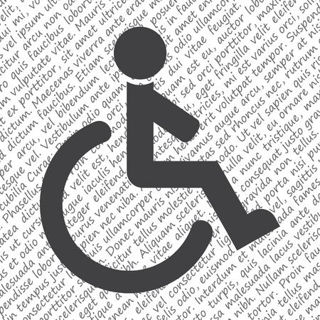 wheel chair: wheelchair vector icon Illustration