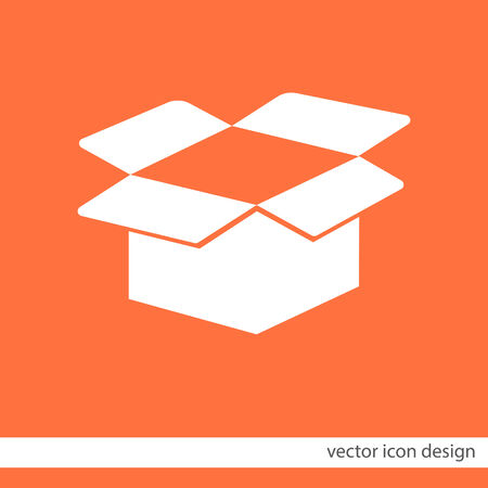 cardboard box open vector icon Vector
