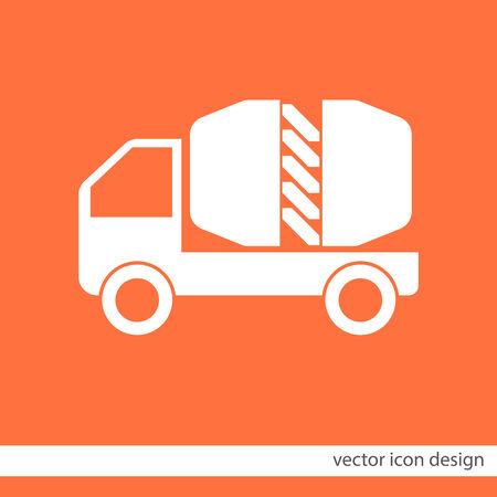 cement truck vector icon Vector