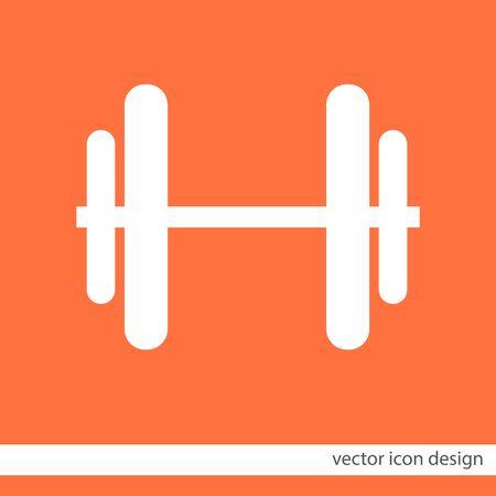 dumbbells: dumbbells vector icon