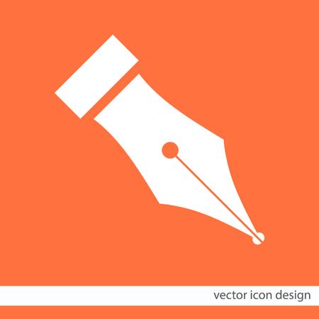 fountain pen symbol vector icon