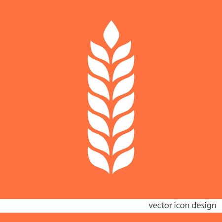 wheat vector icon Illustration