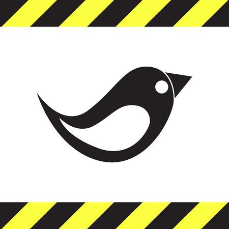 birds silhouette: bird vector icon