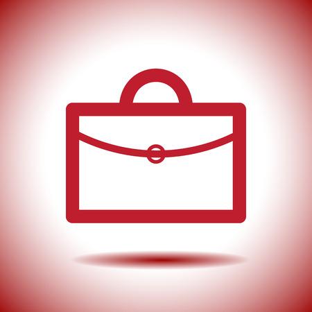 briefcase vector icon logo design Vector