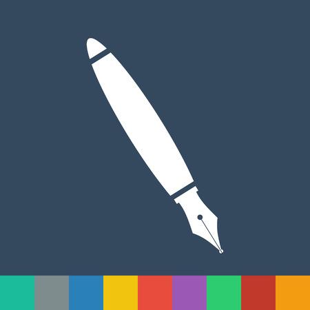 fountain pen vector icon Illustration