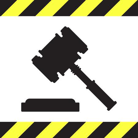 juge marteau: juge vecteur de marteau ic�ne Illustration