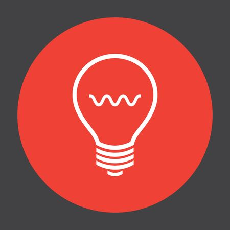 bulb light: light bulb vector icon