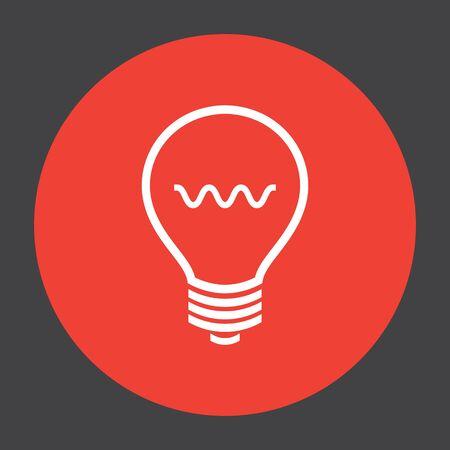 bulb light: light bulb vector icon
