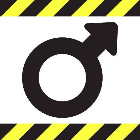 Símbolo del icono del vector género masculino