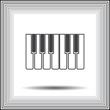 piano key: piano keys icon