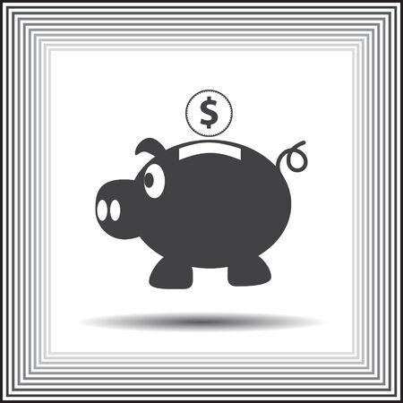 piggy bank vector icon Vector