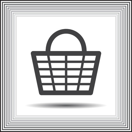 shopping basket vector icon Vector