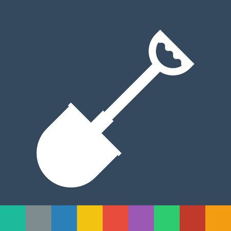 shovel vector icon Vector