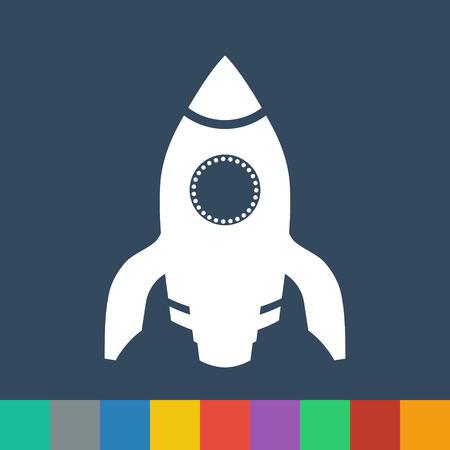 space ship vector icon Vector