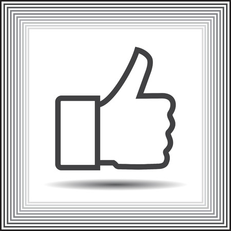 thumb up vector icon Vector
