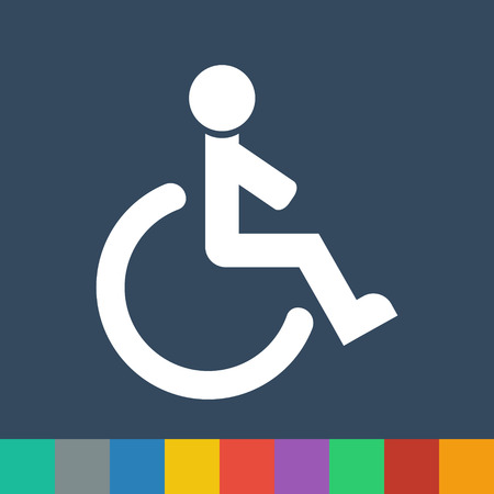 wheelchair vector icon Vector