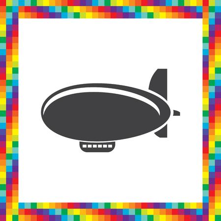 luftschiff: Luftschiff Zeppelin-Vektor-Icon-