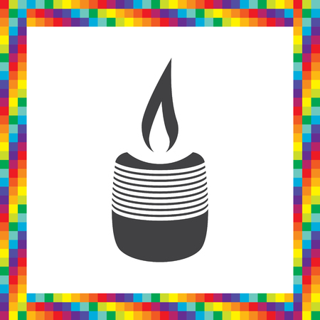 wick: candle vector icon Illustration