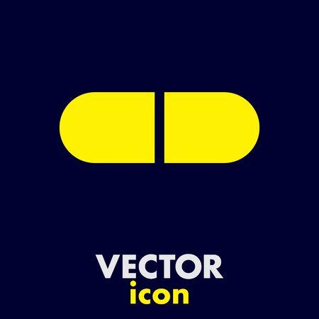 dosage: pill vector icon