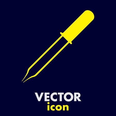 pipette: pipette vector icon