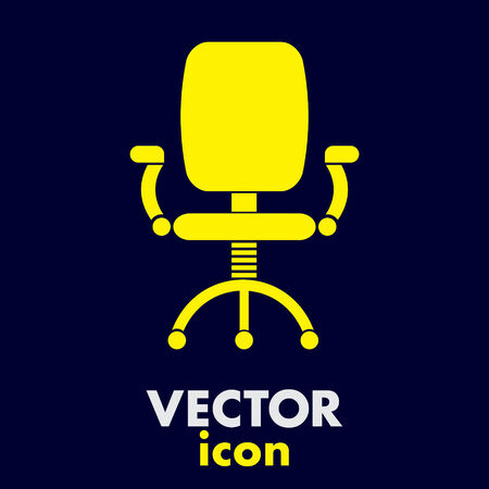 office chair vector icon Vector