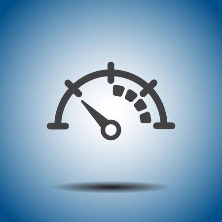 speedometer vector icon Vector