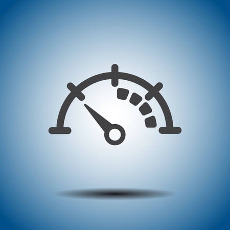 speedometer vector icon Vector