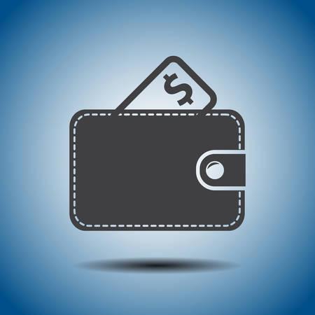 wallet vector icon Vector