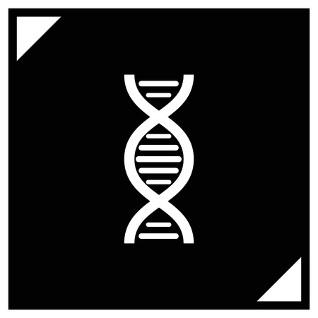 dna chain vector icon Illustration
