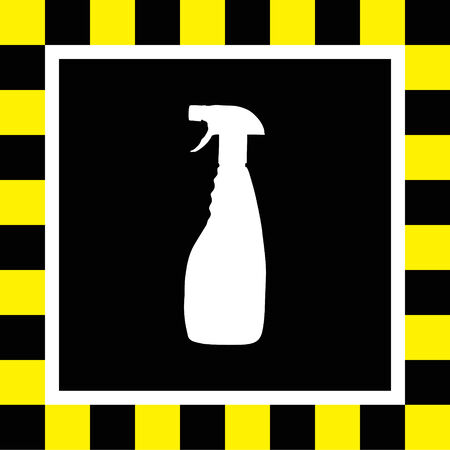 cleaning products: household cleaning bottle vector icon