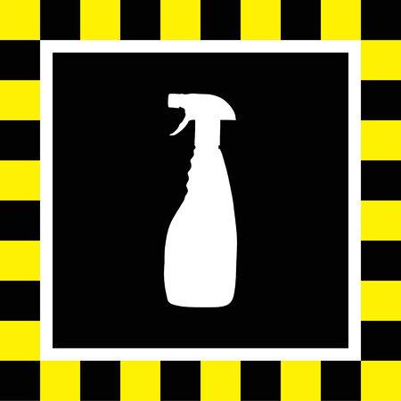 productos quimicos: limpieza del hogar icono de la botella vector Vectores