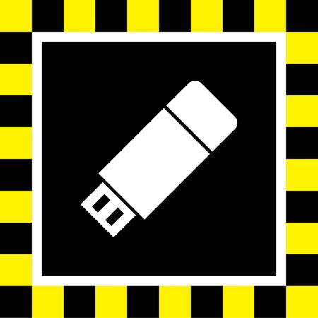 usb stick vector icon Vector