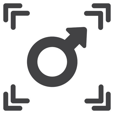 Male Gender Symbol Vector Icon Royalty Free Cliparts Vectors And