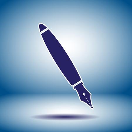 fountain pen vector icon Vector