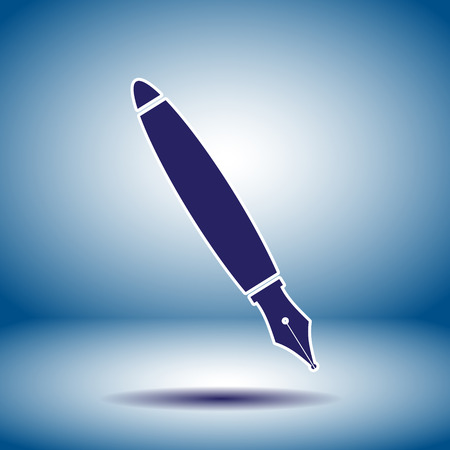 fountain pen vector icon Vector