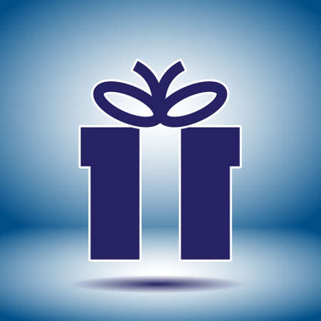 gift box black vector icon Vector