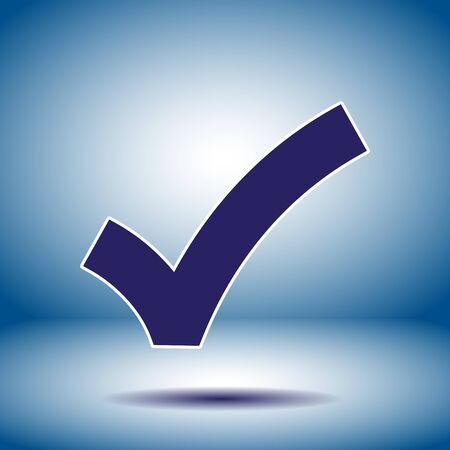 ok sign checkmark vector icon Vector