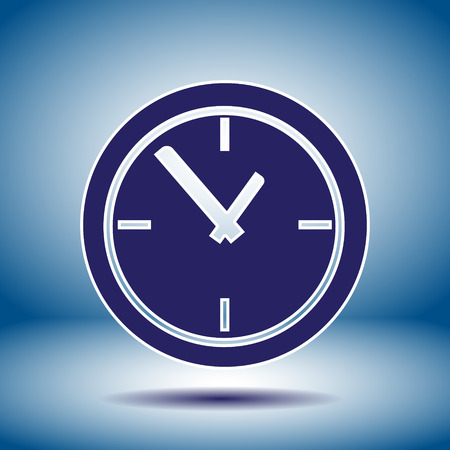 time clock vector icon Vector