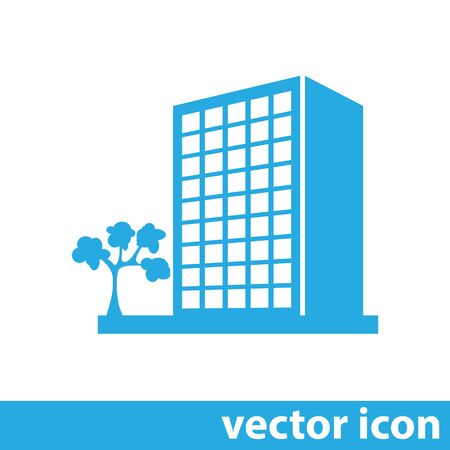 business office: building vector icon