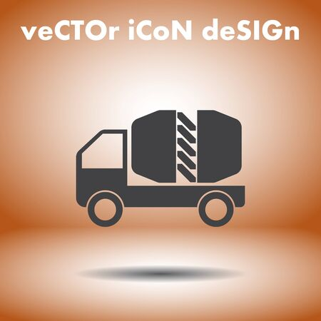 cement truck vector icon Vector