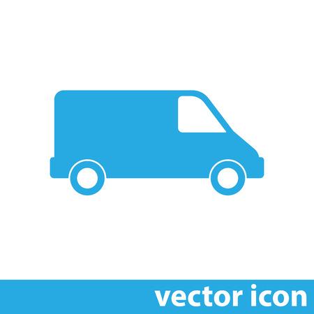 cargo van: commercial van vector icon