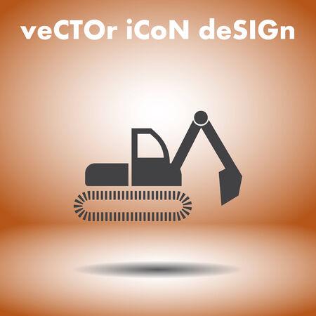 dredge symbol vector icon Vector