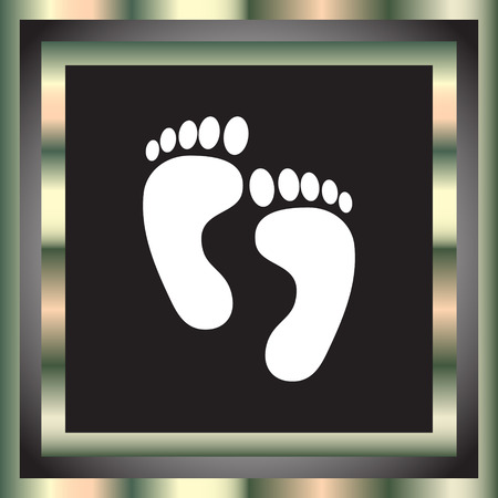 footprint vector icon Vector