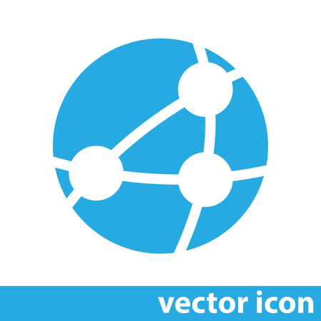 networking: global network vector icon