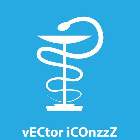 pharmacy snake symbol: farmacia serpiente s�mbolo del icono del vector Vectores