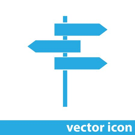 roadsign vector icon Illustration