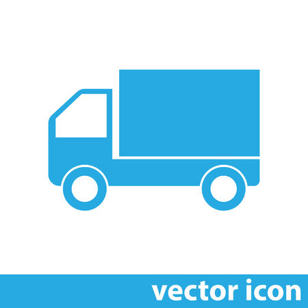 moving truck: truck vector icon